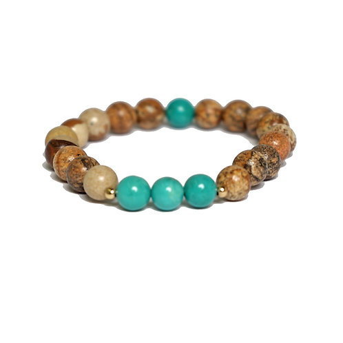 Turquoise Wood Agate