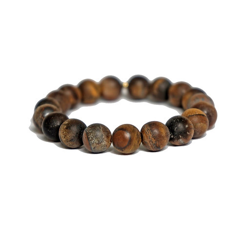 Tigers Eye Matte 10mm
