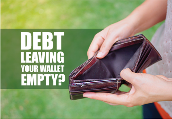 "Debt Relief Postcard""Empty Wallet"""