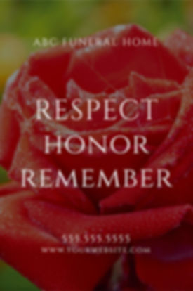 "Funeral Home and Center Postcard Postcard ""Respect, Honor, Remember"""