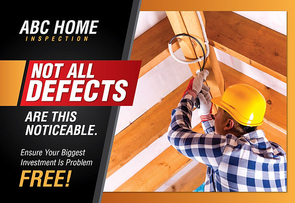 """Home Inspection Postcard """"Noticeable Defects"""""""
