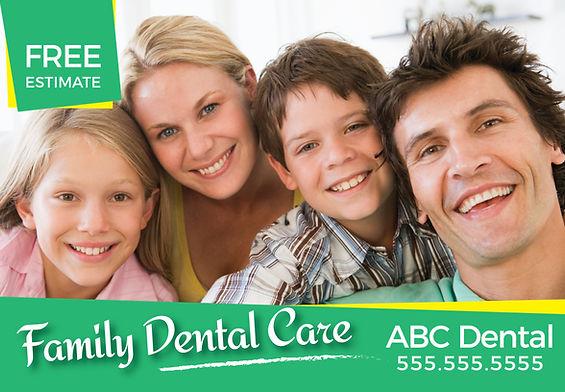 """Orthodontist Postcard""""Family Dental Care"""""""