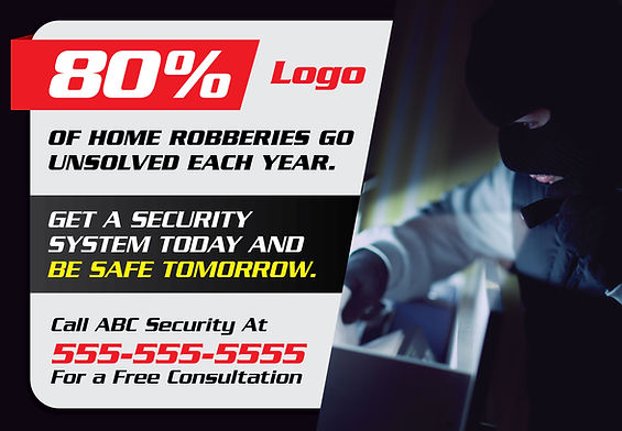 """Security System Postcard """"Be Safe Tomorrow"""""""
