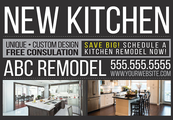 """Home Remodeling Postcard""""New Kitchen"""""""