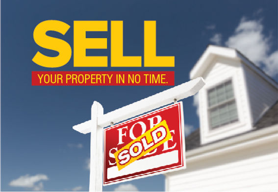 """Real Estate Agent Postcard """"Sell Your Property In No Time"""""""