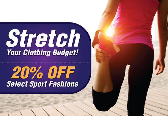 "Retail Shop Postcard ""Stretch Your Clothing Budget"""