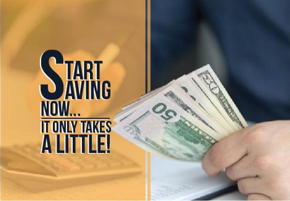 "Financial Planning and ManagementPostcard ""Start Saving Now"""