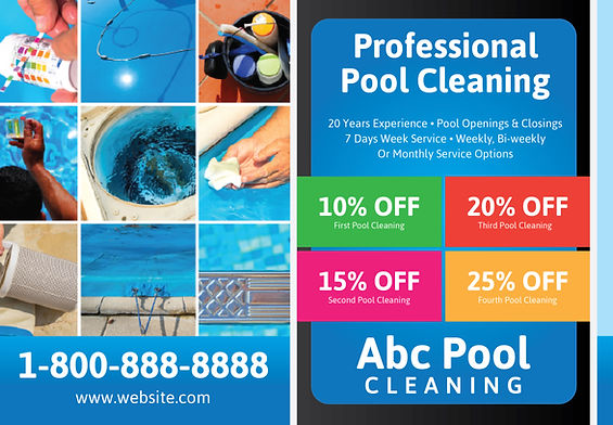 """Pool and Spa Postcard """"Professional Pool Cleaning"""""""