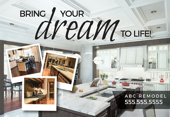 """Home Remodeling Postcard """"Dream to Life"""""""