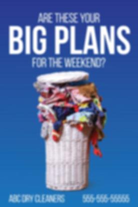 """Dry CleaningPostcard """"Weekend Plans"""""""