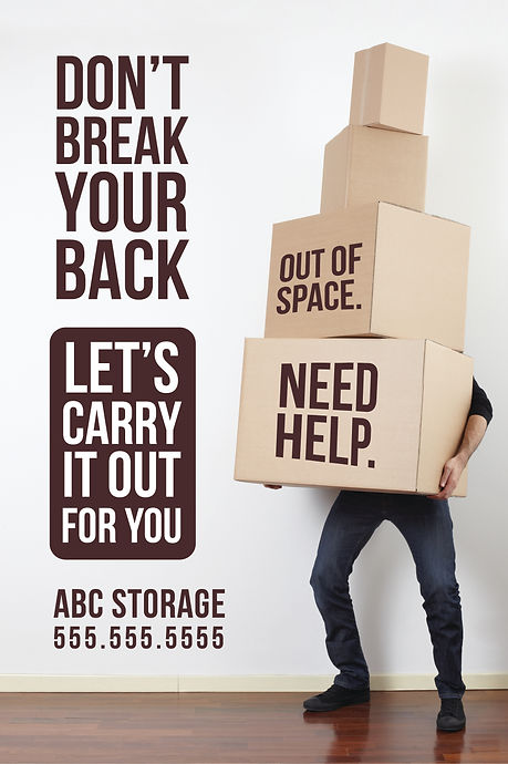 "Moving and Storage Postcard ""Don't Break Your Back"""