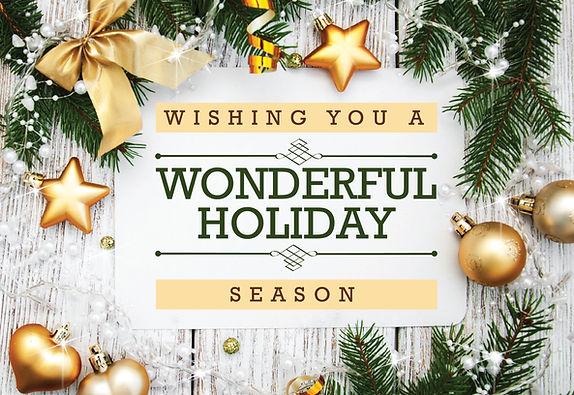 """Holiday Card and Greeting Postcard """"Wonderful Holiday Season"""""""