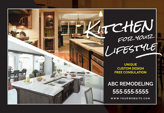 """Home Remodeling Postcard""""Lifestyle Kitchen"""""""