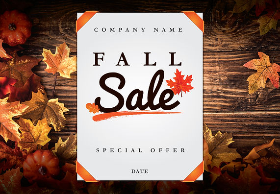 "Gardening and Lawn Service Postcard ""Fall Sale"""