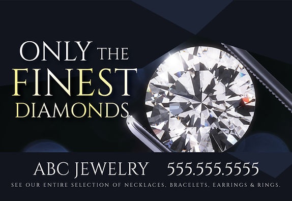 "Jewelry and Jewelry Shop Postcard ""Finest Diamonds"""
