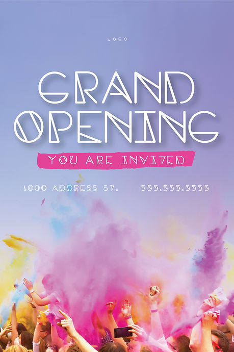 "Grand Opening Announcement Postcard ""Grand Opening"""