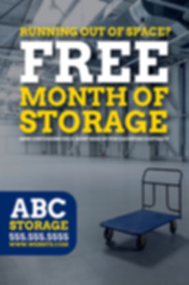 "Moving and Storage Postcard ""Free Month of Storage"""