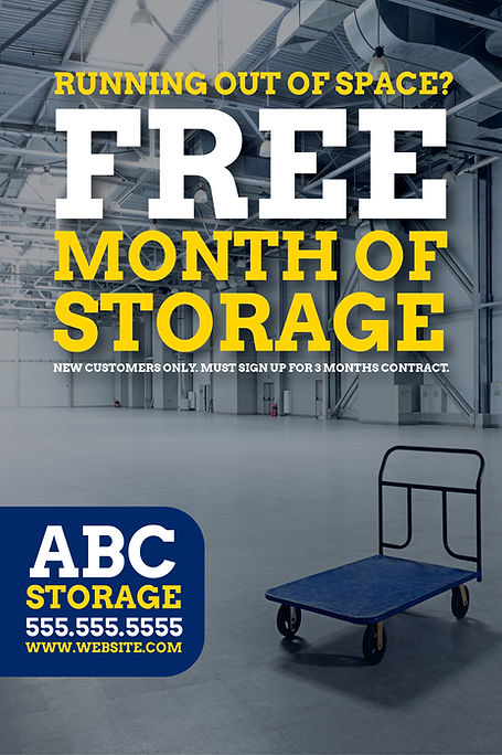 """Moving and Storage Postcard """"Free Month of Storage"""""""