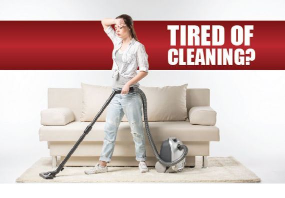 """Cleaning and Maid Services Postcard """"Tired of Cleaning"""""""