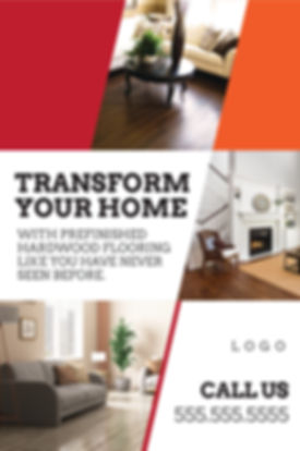 "Flooring, Tile Seller and Installer Postcard ""Transform Your Home"""