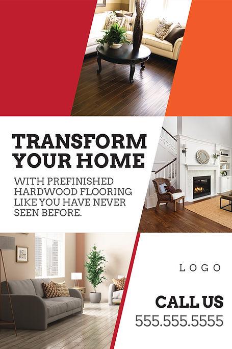 "Flooring,Tile Sellerand Installer Postcard ""Transform Your Home"""