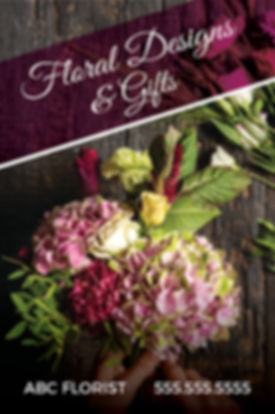 "Florist Postcard ""Floral Designs and Gifts"""