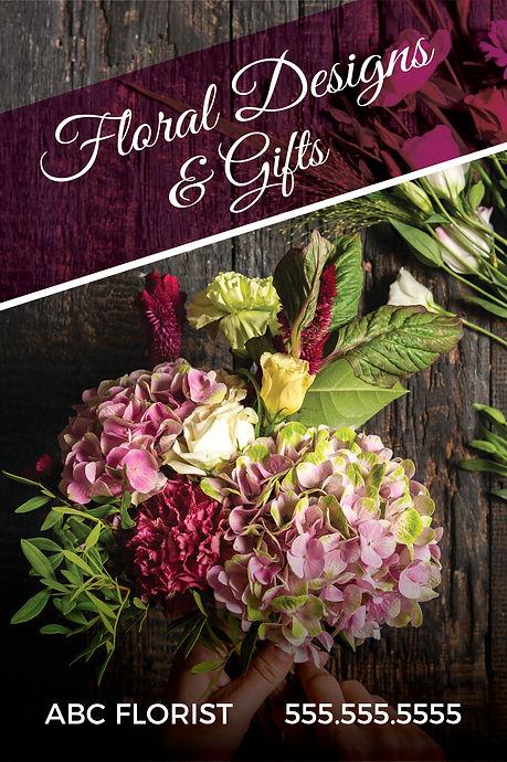 "FloristPostcard""Floral Designs and Gifts"""