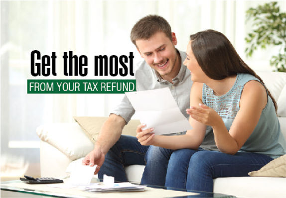 "Tax Filing and Preparation Postcard ""Get the Most"""