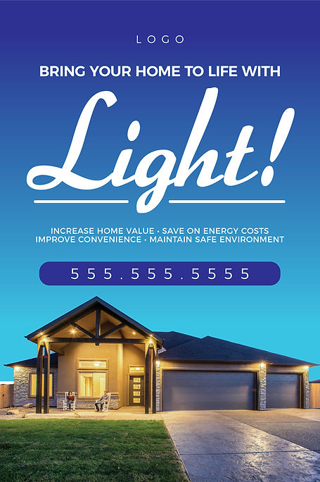 """Electrician and Electrical ContractorPostcard """"Lighten Up Your Home"""""""