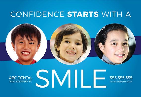 "Orthodontist Postcard ""Confidence"""