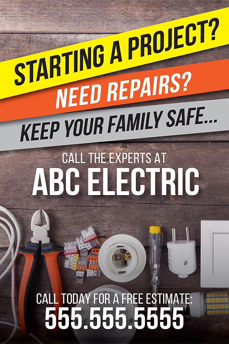 """Electrician and Electrical ContractorPostcard """"Call the Experts"""""""
