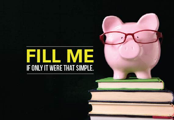 """Financial Planning and ManagementPostcard """"Fill Me"""""""