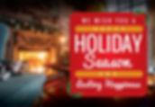 """Holiday Card and Greeting Postcard """"Happy Holiday Season"""""""
