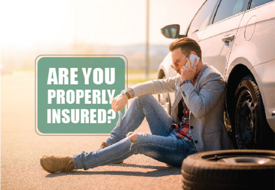 """Insurance Agency and Agent Postcard """"Are You Properly Insured?"""""""
