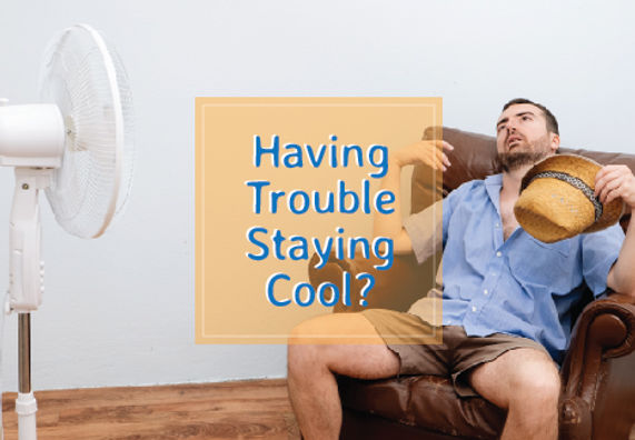 "Heating and Air Conditioning Postcard ""Stay Cool"""