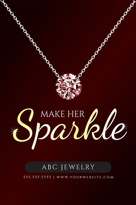 "Jewelry and Jewelry Shop Postcard ""Make Her Sparkle"""