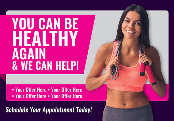 """Physical TherapyPostcard """"Be Healthy Again"""""""