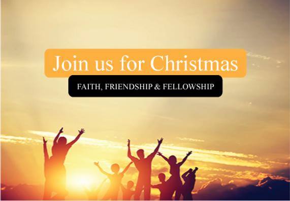 "Church Postcard ""Faith, Friendship and Fellowship"""