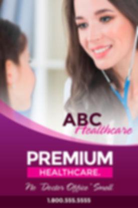 "Medical Practice Postcard ""Premium Healthcare"""