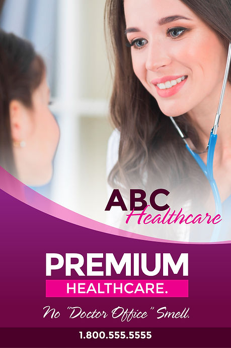 "Medical Practice Postcard ""Premium Healthcare"""