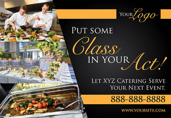 """Restaurant and Cafe Postcard """"Catering Services"""""""