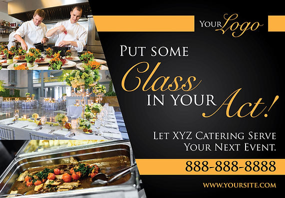 "Restaurant and Cafe Postcard ""Catering Services"""