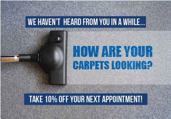"Carpet Cleaning Postcard""10 Percent Off"""