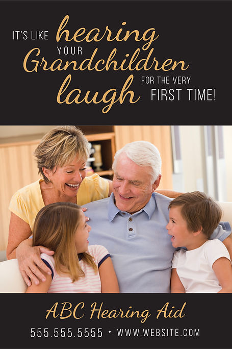 "Hearing Aid Specialist and Testing Center Postcard ""Grandchildren Laugh"""