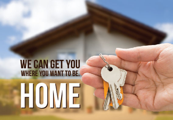 """Real Estate Agent Postcard """"We Can Get You Where You Want To Be"""""""