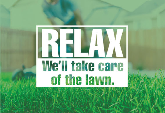 "Landscaping Postcard ""Relax"""