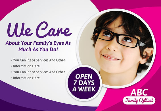 "Optometry/Optometrist Postcard ""We Care"""