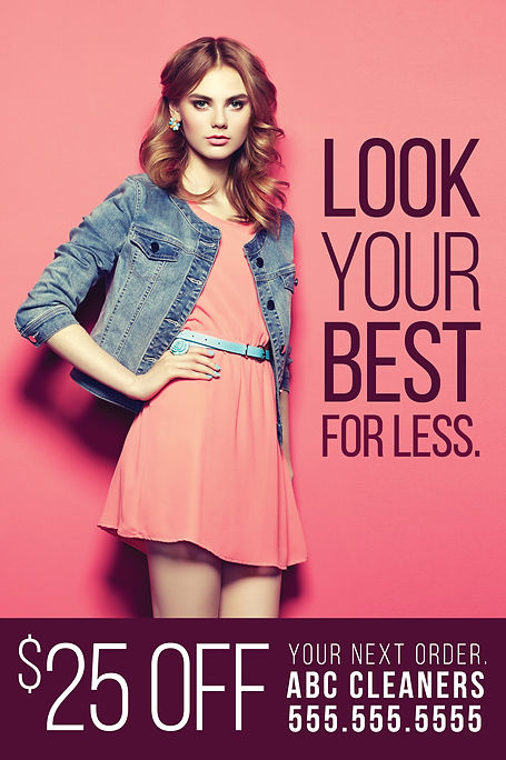 """Dry CleaningPostcard""""Look Your Best for Less"""""""