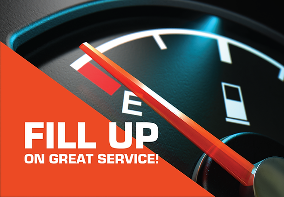 "Auto Repair Postcard ""Fill Up on Great Service"""