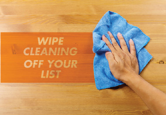 """Cleaning and Maid Services Postcard """"Wipe Cleaning off your List"""""""